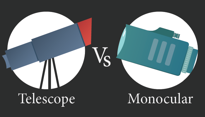 What is the differene between Telescope and Monocular? Compared